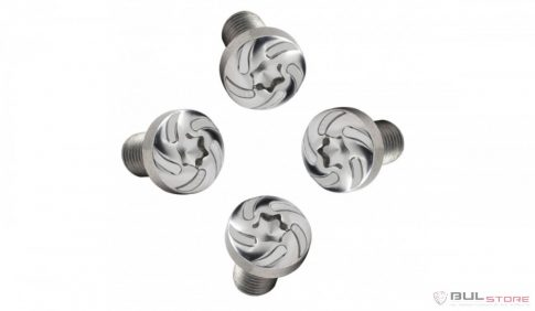 Torx grip screws -Silver Spiral design